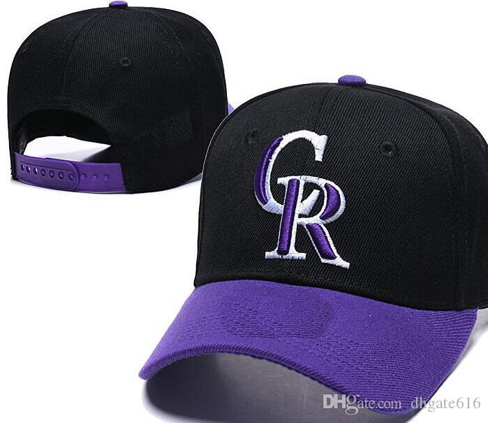 Wholesale Rockies hat CR Snapback Hip Hop cap outdoor Sun cap Curved Brim Cheap Flast Bill Sport fashion Men adjustable Bones Women's 00