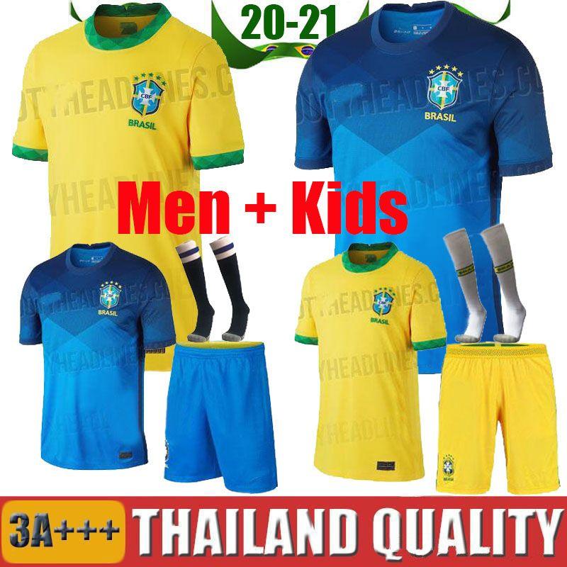 Acquista 2020 Brasile Soccer Jerseys Bambini Brasil Neres Copa America Kit Casa Away 2021 G.Jesus Jersey Camicie Da Calcio A 12,56 € Dal Thai_jerseys ...