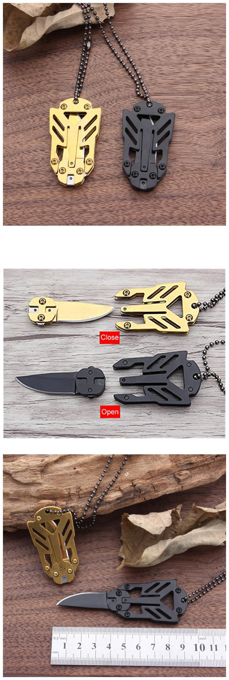 Multiple Tools EDC Outdoor Survival Tools Survive Self-Defense Necklace Camping Stool Folding Tactical Knives for Hiking Camping (7)