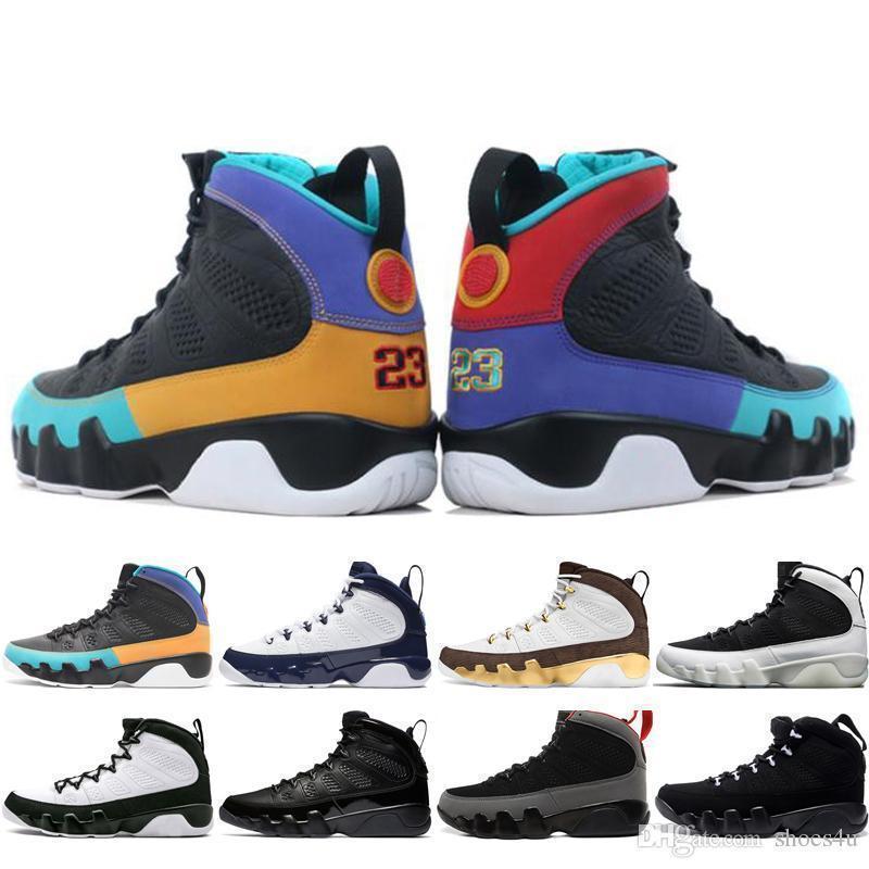uomini nuovi 9 economici 9s sogno lo faccio UNC Mop Melo Mens scarpe da basket L'Olimpiadi Space Jam Bred sport sneakers nero antracite stilista size7-13