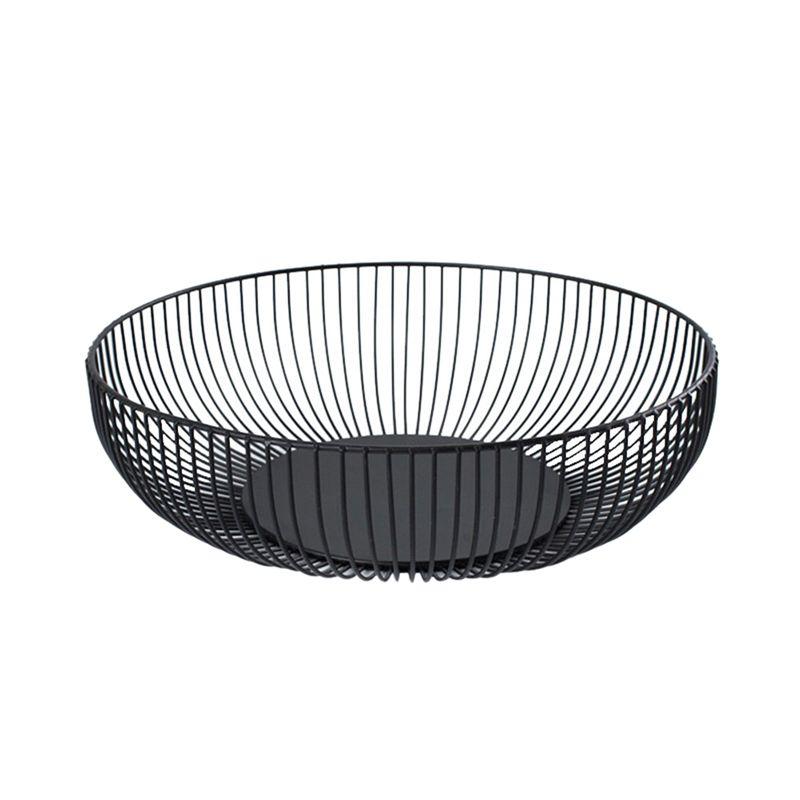 Nordic creativo minimalista Fruit Basket Soggiorno creativa di frutta Drain Carrello Home Ferro Fruit Bowl Basket archiviazione (L)