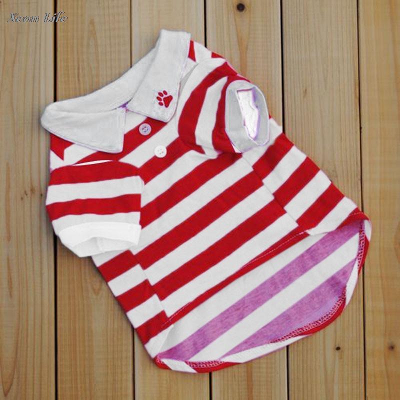 2016 New Arrival pet puppy roupas para cachorros Moda Striped Roupas Para Cachorros pequeno Dogs Vest Camiseta Gota shippingWholesale