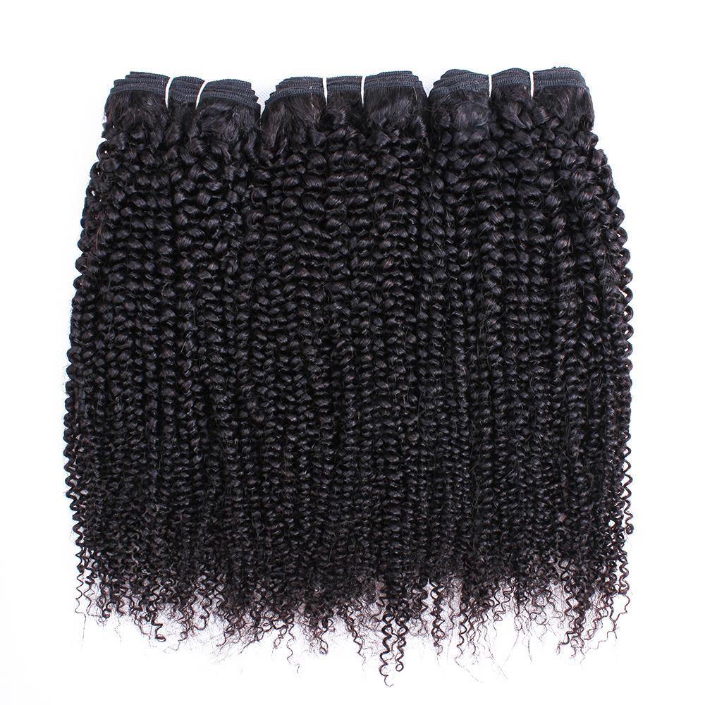 Natural Color 3 Bundles Afro Kinky Curly Virgin Hair Weave 10-26 inch Brazilian Peruvian Malaysian Indian Human Hair Weft
