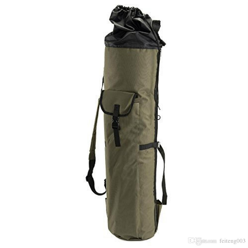 Large Capacity Hand Carry Shoulder Bag Fishing Rod Reel Case Bag Thickening Canvas Fishing Reel Organizer Pole Storage Case #751864