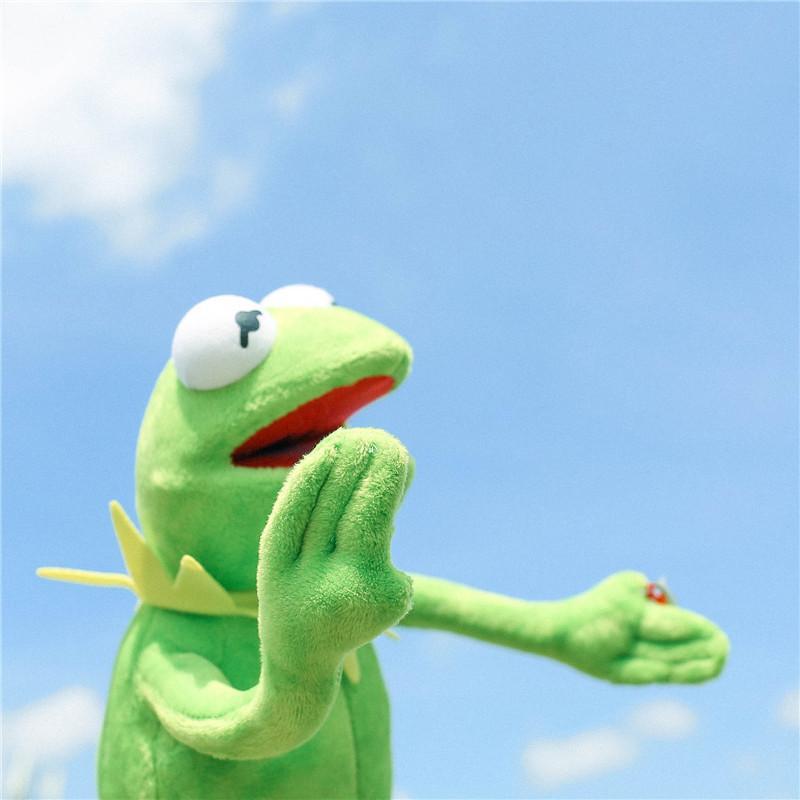 Venda 40 centímetros Hot Kermit Plush Toys Sesame Street rãs Boneca Stuffed Animal Kermit Toy Gota presentes de férias para crianças transporte
