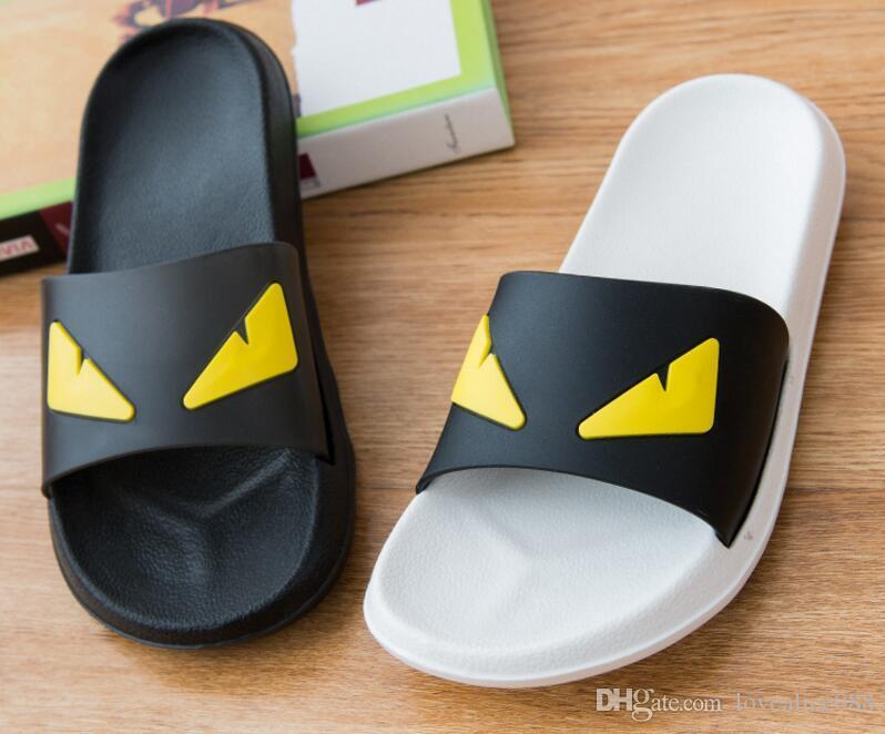 Men women's slippers female's flip flops flowers slippers pvc sandals Camellia Jelly Shoes beach shoes Female Shoes Black Sandals