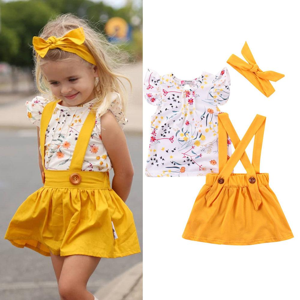 Baby Clothes Set Newborn Kid Baby Girl Romper Tops Bow Princess Party Skirt Dress Outfit Set Kids Top Shirts