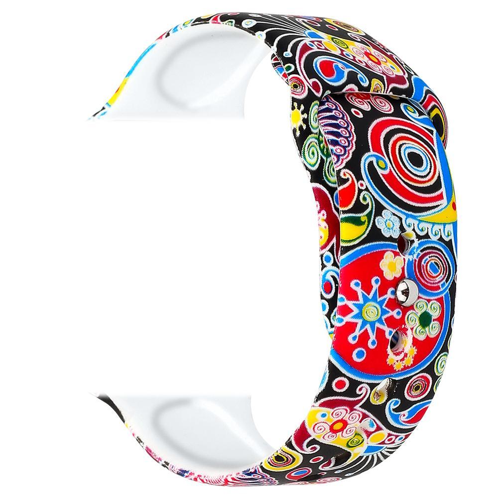 2019 moda flor impressão pastoral faixas de silicone tiras para apple relógios belos relógios de pulso de borracha acessórios