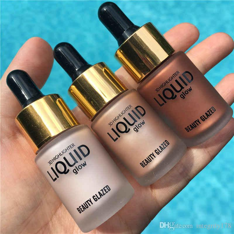 Beauty GLAZED 3D Liquid glow Highlighter Make Up Highlighter Cream Concealer Shimmer Face Glow Ultra-concentrated 15ML DHL FREE