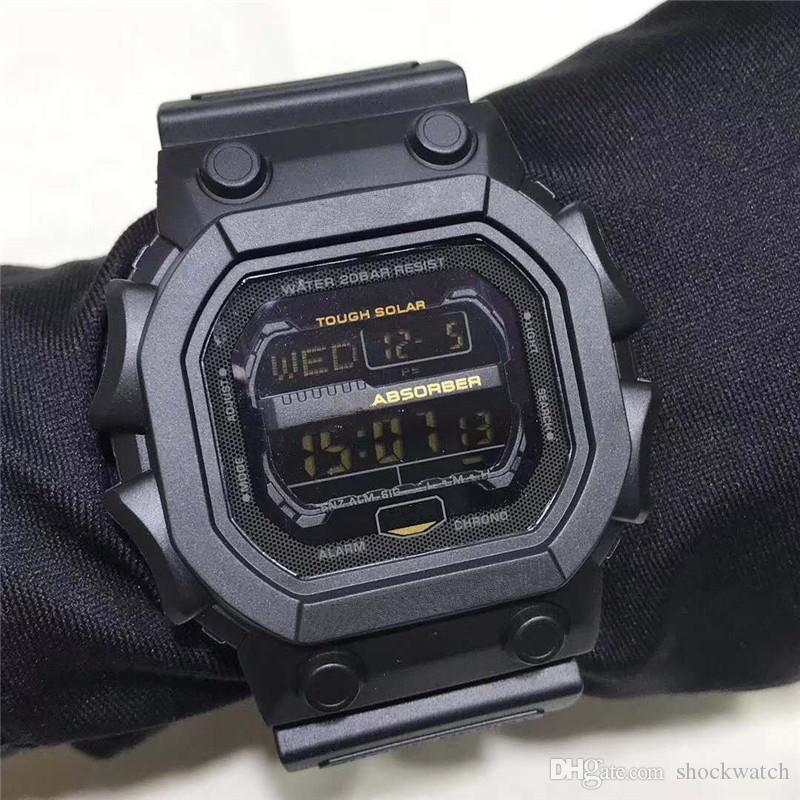 Wholesale Watches Fashion Sports Watch Men Military Watch Camouflage Army Waterproof Wristwatch Shock Resist Date Calendar LED Sports Watch
