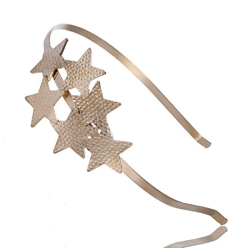 Version coréenne de la boucle de tête Pentagram Hoop, accessoires pour cheveux