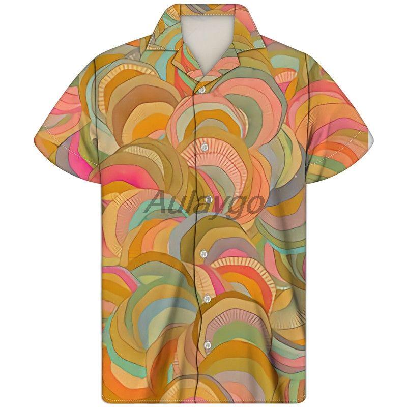 2020 Mens Summer Short Sleeve Clothing Colorful Cuban Guayabera Shirt Fashion Hawaiian Shirt For Boys Custom Camisa Masculina