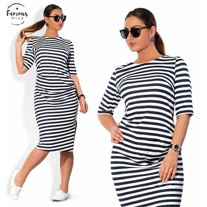 5Xl de gran tamaño del vestido del verano del resorte del tamaño grande de tamaño Blanco Negro Rayado vestidos de las mujeres más ropa de la correa Vestidos ropa de vestir