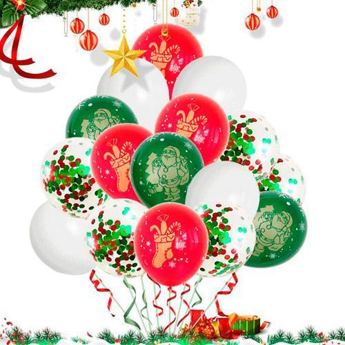 12 pouces Noël Impression Ballons En Latex Ballons Gonflables Ballon Gonflable Pour La Maison Joyeux Décorations De Fête De Noël