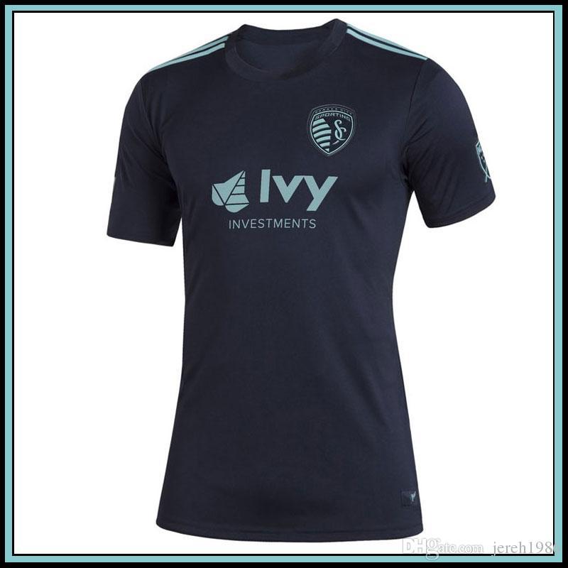 2019 MLS Parley Sporting Kansas Şehir Donanması Formalar Futbol Gömlek 19 20 MLS Parley Sporting Kansas Şehir Donanması Futbol Formaları Koşu Formaları