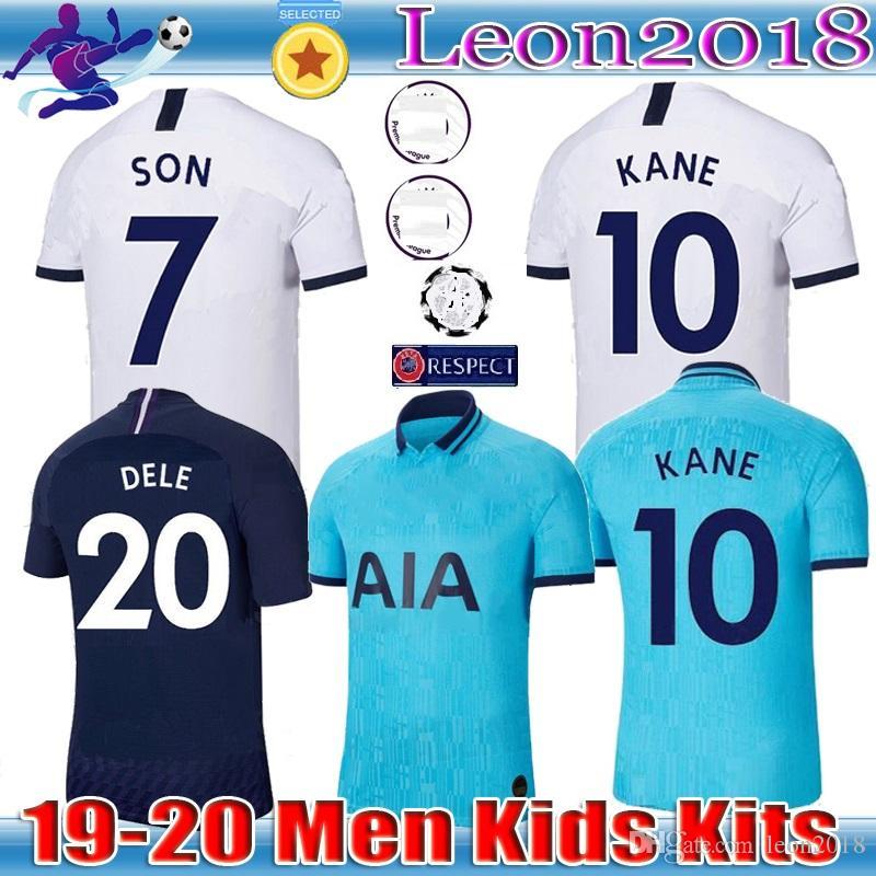 Maglia da calcio KANE spurs di qualità tailandese 2019 2020 LUCAS ERIKSEN DELE SON maglie 19 20 Tottenham terza maglia da calcio