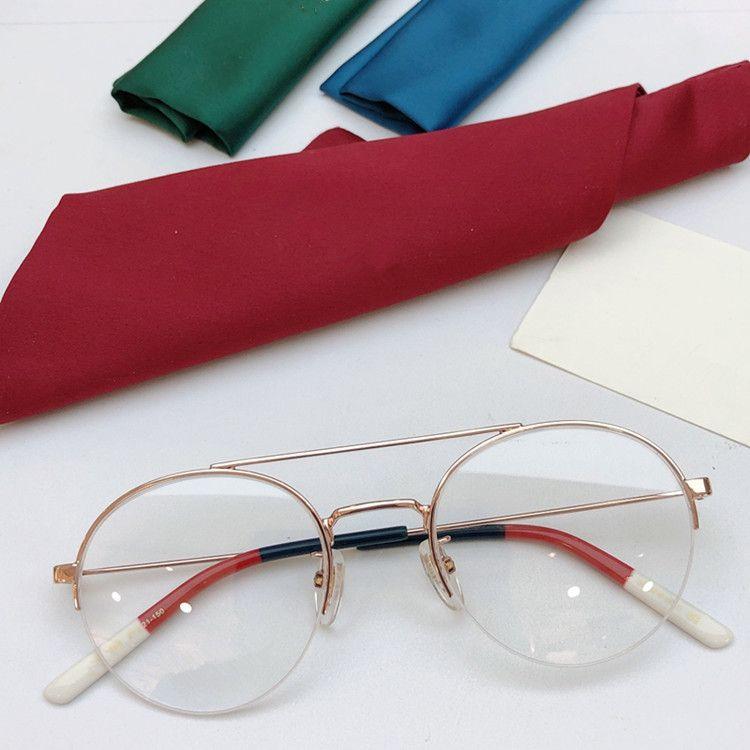 Donne Lightweight Prescription Star Round Double-Bridge Glasses Frame 2020 GG0682O GOLD PER CASO FINE HALFRIM FULL-Set Full-Set Glih Glih