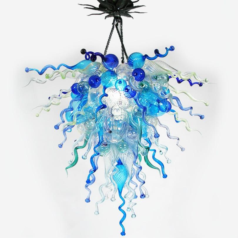 Colorato Lampadari di vetro e luci a sospensione a mano luce del pendente in vetro soffiato Lampadari Illuminazione della decorazione della casa superiore ha condotto