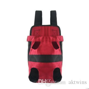 Pet bag Dog Backpack Front Chest portable Cloth Backpack Carriers with Buttons Outdoor Travel Durable Shoulder Bag For Dogs Cats XHCFYZ131