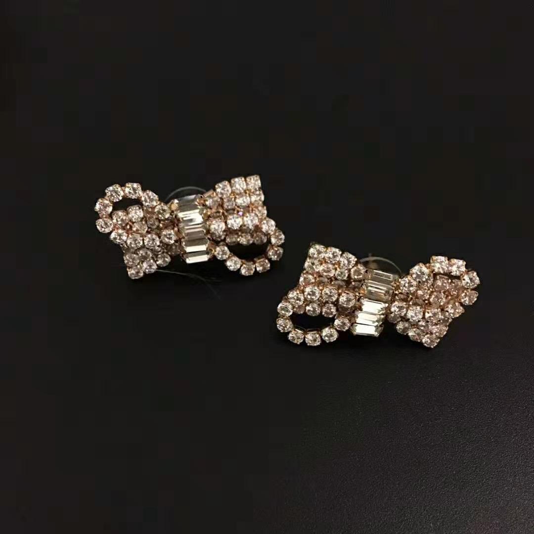 donne del progettista di moda-lusso orecchini di strass a farfalla per trasporto libero dei monili del partito di modo delle donne
