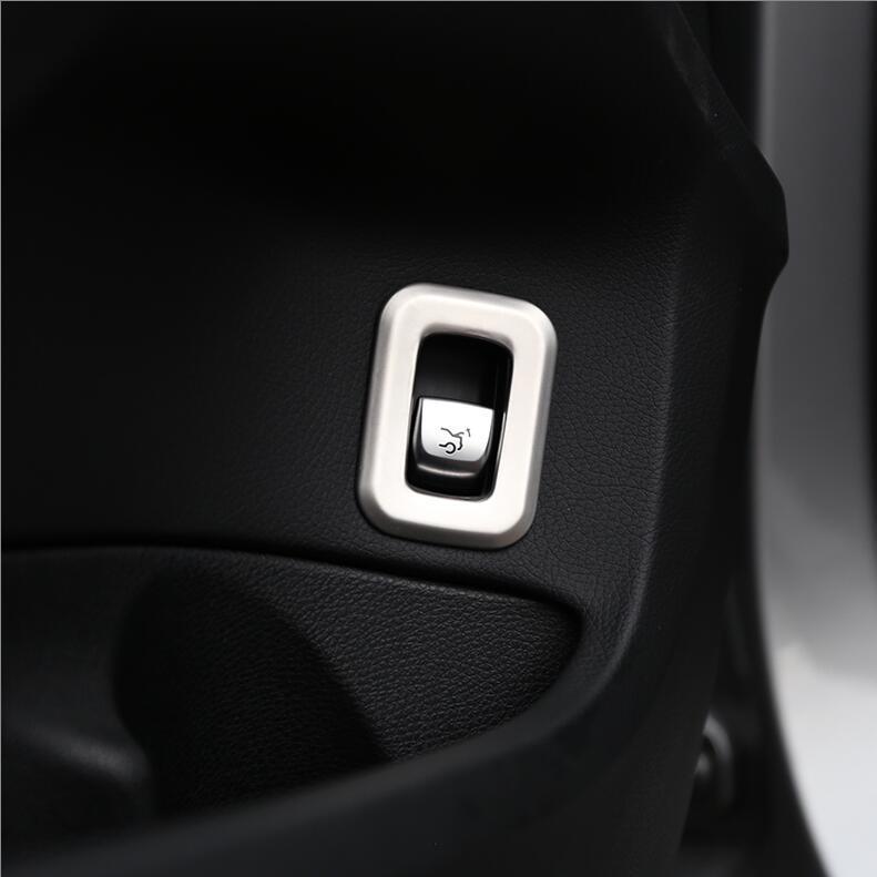 자동차 스타일링 트렁크 전자 수동 브레이크 프레임 스위치 버튼 칼 커버 트림 스티커를 들어 메르세데스 벤츠 C 클래스 W205 2015-2020 액세서리