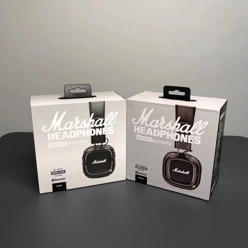 Marshall الرئيسية 2 II Bluetooth اللاسلكية على سماعات رأس الأذن خوذة الصوت سماعات ستيريو ألعاب قابلة للطي أسود مع التحكم في حجم الميكروفون