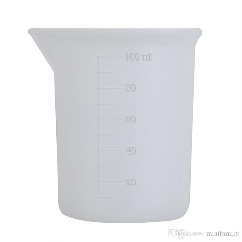 100 мл прозрачный мерный стаканчик со шкалой клея силиконовые измерительные инструменты для DIY выпечки кухонный бар столовые принадлежности оптом