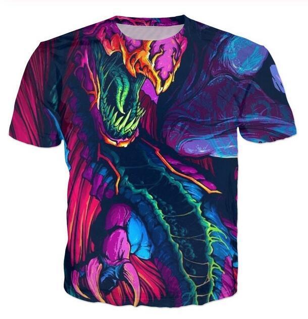 Luxury Mens Designer T Shirts Men Women Hip Hop T Shirt 3D Print Hyper Beast Designer Shirt XK051