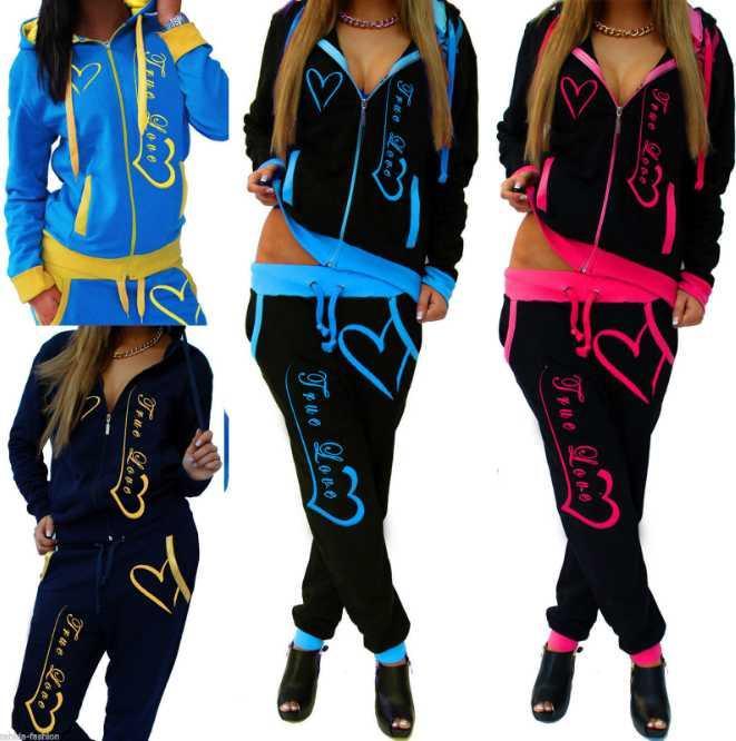 2020 SICAK 4 Renkler Bahar ve sonbahar Eşofman Kadın Giyim Kapüşonlular Seti Harf Casual Uzun Kollu Spor Suit Kostümler sweatshirt + Pantolon yazdır