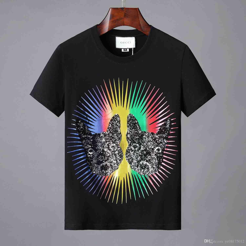 19ss роскошные мужские дизайн футболки мужская с коротким рукавом 3D животных акула печати футболки женщин дизайн футболки M 3XL 88