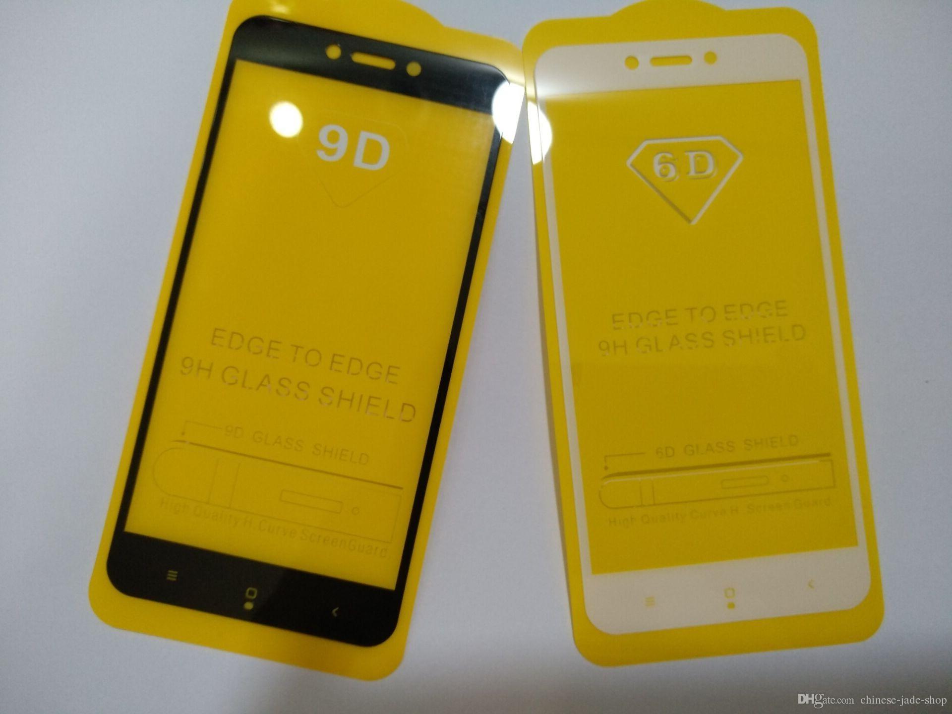 Full omslag 21d 9d Tempered Glass Screen Protector AB Lim för Samsung Galaxy J2 Pro 2018 J2 Core J2 J5 Prime 200pcs