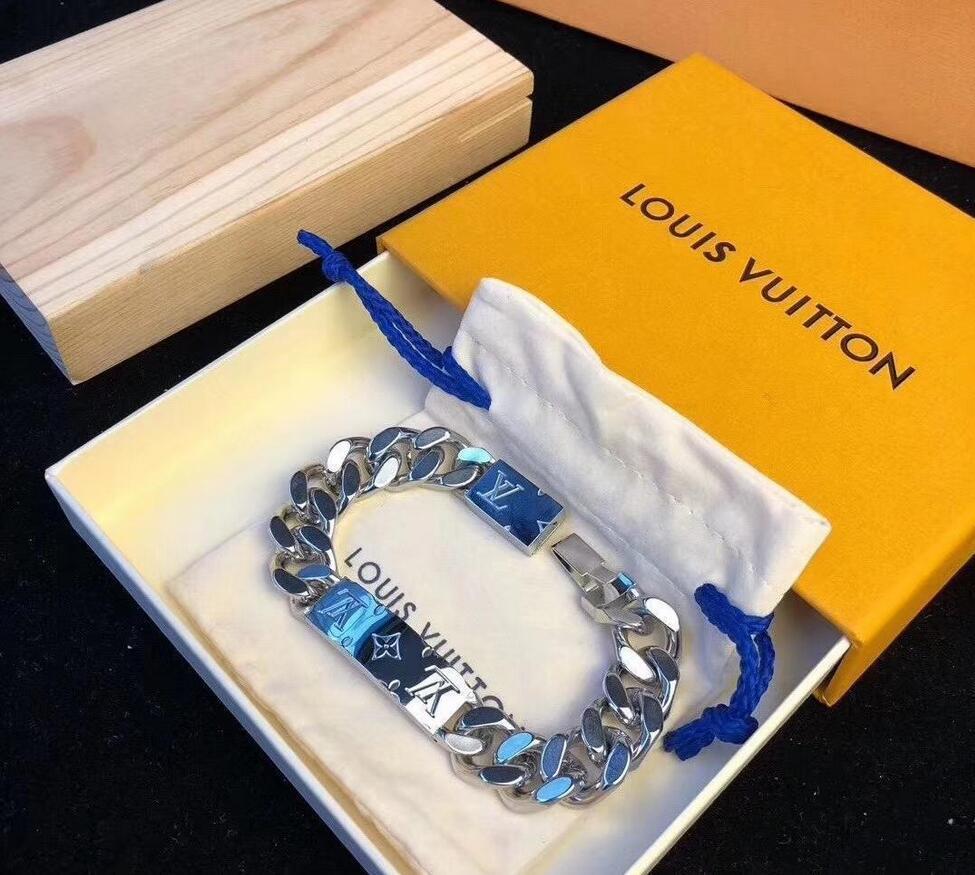 Marke Fashion Unisex Luxuxschmucksachen Edelstahl-Armband-Armbänder Pulseiras Armbänder für Mann und Frau mit Geschenk-Box