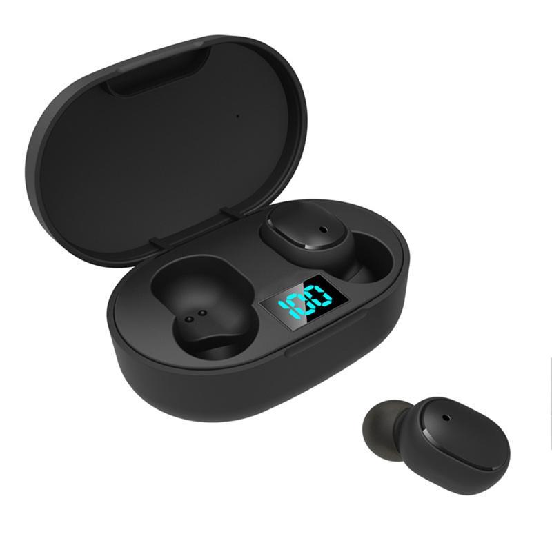 مصغرة TWS سماعات الأذن اللاسلكية E6S سماعة ايفي الصوت سماعات بلوتوث 5.0 مع المزدوج هيئة التصنيع العسكري بقيادة العرض سماعات السيارات الاقتران سماعات