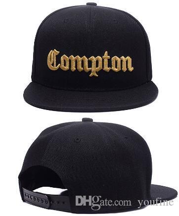 Горячие рождественские продажи 2020 Мода SSUR Snapback Compton черных шляпы регулируемых snapbacks крышка улица крышка шлем Dropshipping Принято