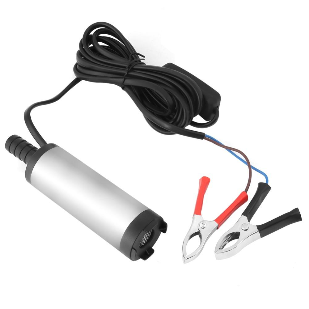 Freeshipping DC 12V Water Pump Stainless Steel Submersible Pump 8500r/m Dieseloil Kerosene Oil Refueling Tools Electric Water Pump