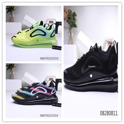 Acheter 2020 Nike Air Max 720 Total Eclipse Sea Forest 720 Hommes Femmes Chaussures De Course Northern Lights Noir Or Red Sunrise Hommes Baskets Sport