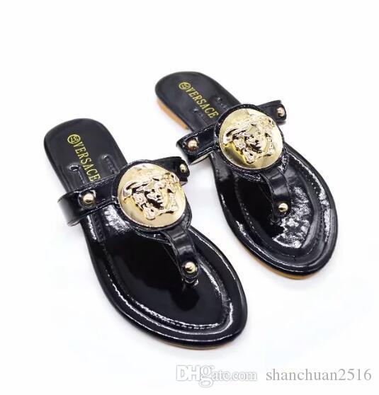 Nuevo estilo de verano zapatos de mujer sandalias de moda pisos sandalias chanclas zapatillas de moda más el tamaño 35-42 envío gratis