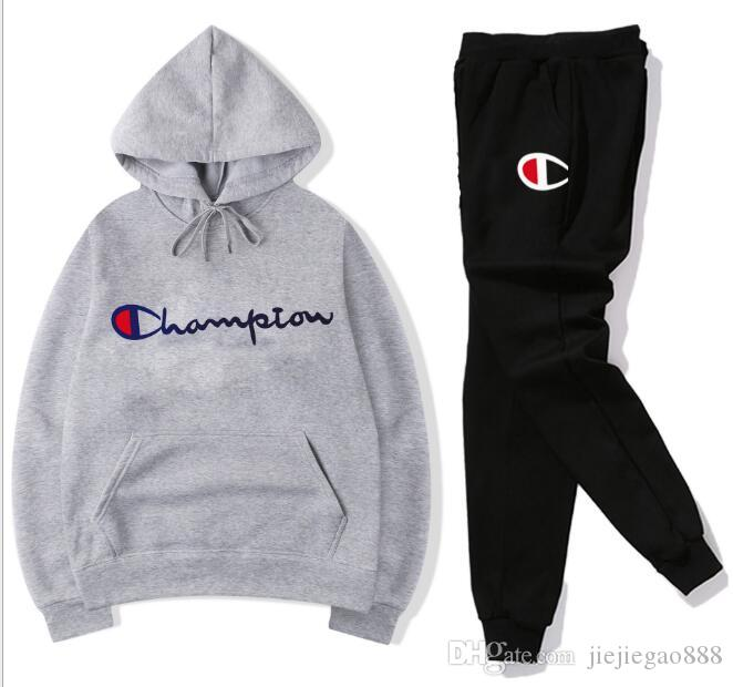 Designer Women Tracksuit Letter Printed Champions Hoodie and Pants 2pcs set Casual Sports Outdoor Long Sleeve Tops Jogger Clothing Set