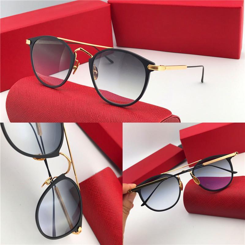 Оптово-Новый модный дизайнер солнцезащитных очков в ретро оправе популярный винтажный объектив uv400 Высочайшее качество защиты глаз Классический стиль 0015
