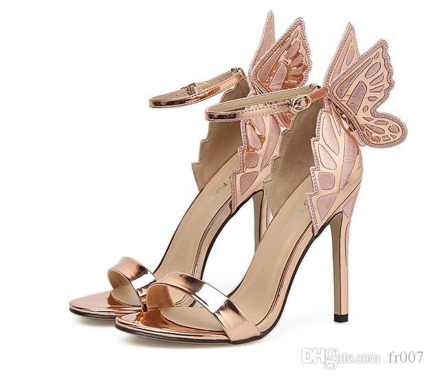 Plus Size Sexy Tacchi alti 11cm cinghie della caviglia Sandali estate donne di modo gladiatore sandali per il partito rosso donne scarpe da sposa Lady