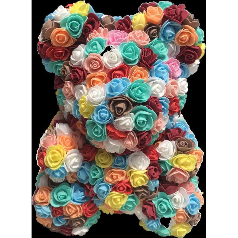 24pcs 40cm Oso de hope13 Flores Festival hogar de la boda artificial de la decoración DIY rosas de boda barato Caja de regalo de la guirnalda Crafts mejor regalo