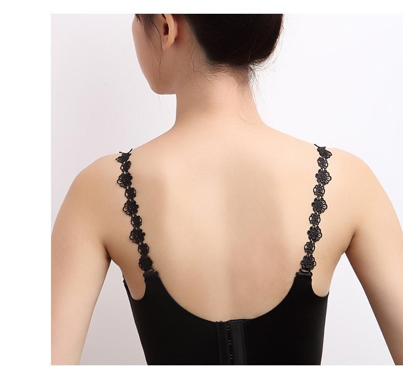 Women Lady Adjustable Bra Straps Lace Flower Shoulder Strap Underwear Accessory