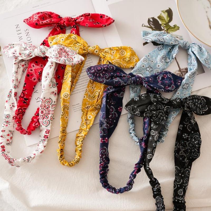 Bandas retro turbante diadema vendaje cruzado Pañuelos de Bohemia Hairband Turbante anudada Verano el cabello accesorios para el cabello, gorros 12 diseños D5479