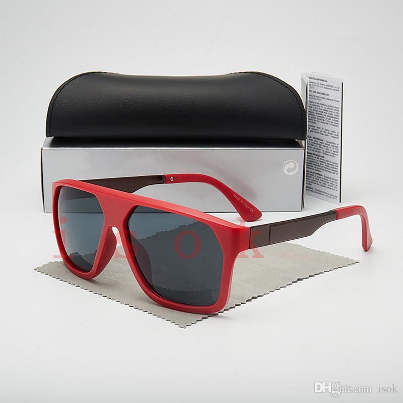 10pcs, Top qualité classique Lunettes de soleil pour homme femme pilote Lunettes Designer Marque cadre carré Lunettes de soleil UV400 lentilles Boîte et les affaires