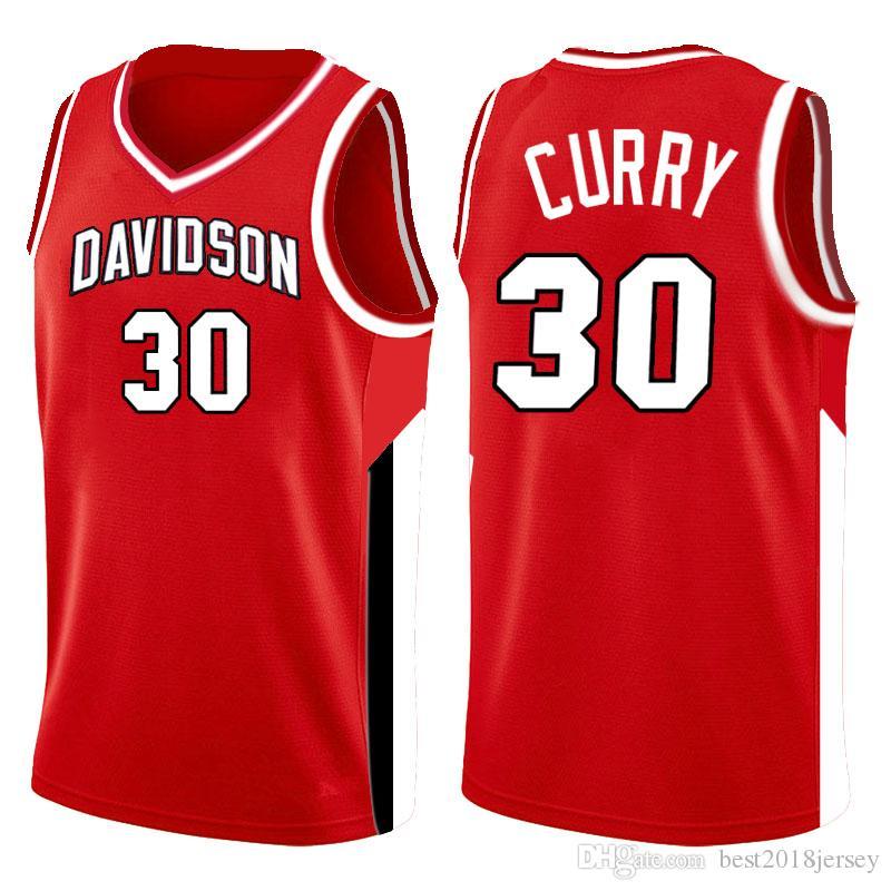 2020 top 30 Stephen Curry NCAA Davidson Wildcats Jersey de la universidad 3 Dwyane Wade 10 Dennis Rodman 25 RICHARDS Marquette Eagles de oro CESREGsac