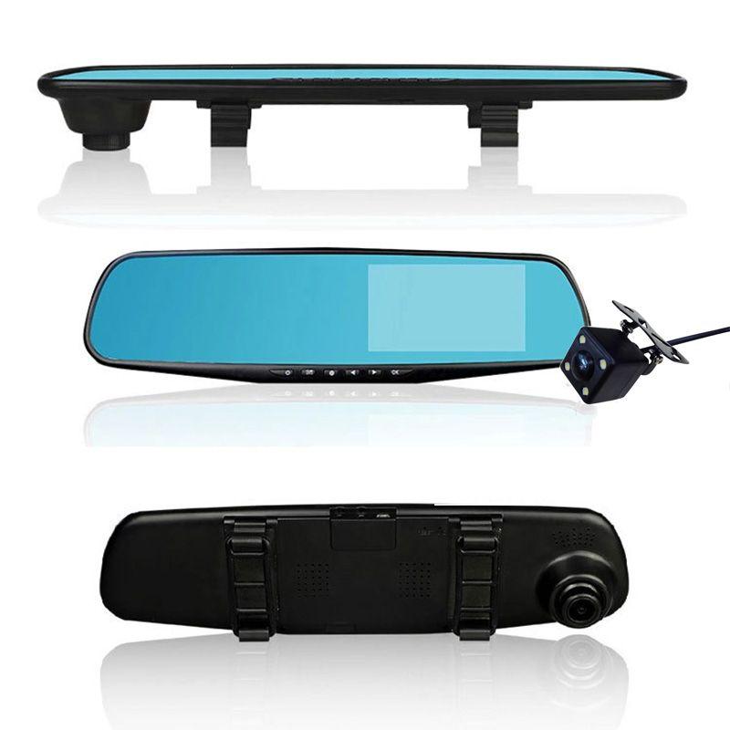 Die heiße Verkauf 4.3 Zoll-Auto-DVR Kamera Full HD 1080P Automatische Kamerarückspiegel mit DVR und Kamera Auto Recorder dashcam Auto DVRs