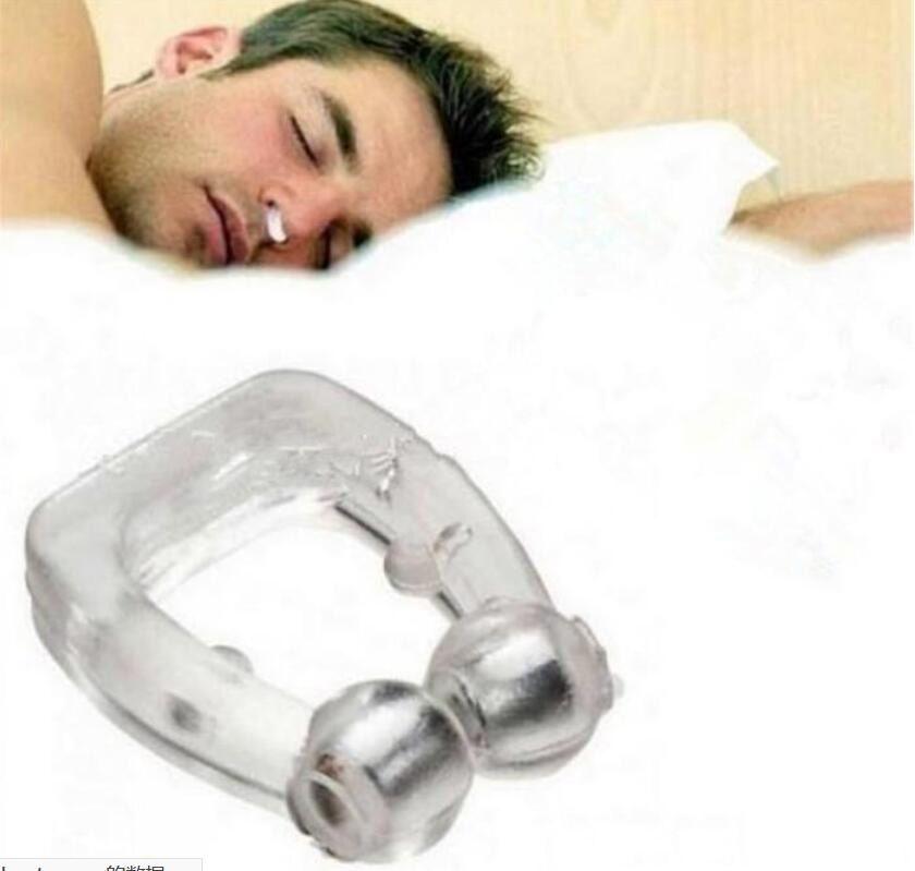 원조 무호흡증 가드 밤 장치를 잠자는 코골이가 나는 중지 실리콘 자기 안티 코 고는 코골이 코 클립 수면 트레이