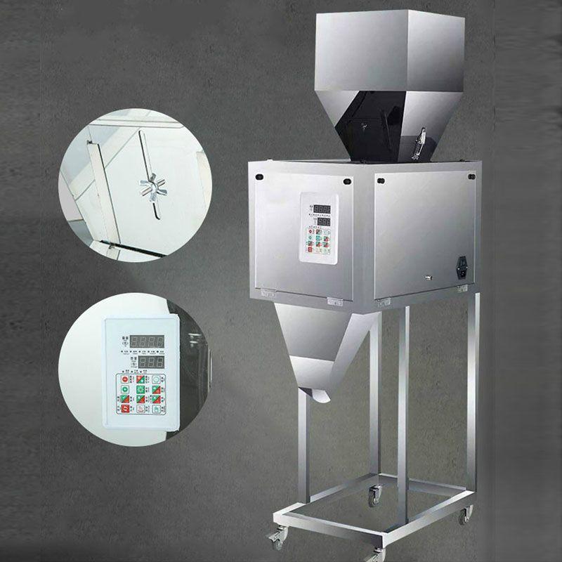 50-5000g Pesada automática máquina de llenado de la máquina de embalaje de comida para gatos grano de café grano harina de semilla de té de tornillo