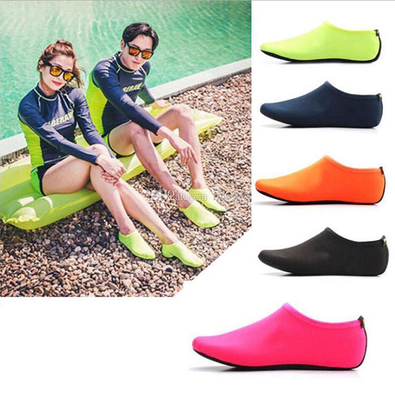 New Beach Плавание Водные Спортивные Носки Противоскользящие Туфли Yoga Fitness Dance Плавание Серфинг Дайвинг Подводная Обувь для Детей Мужчин и Женщин