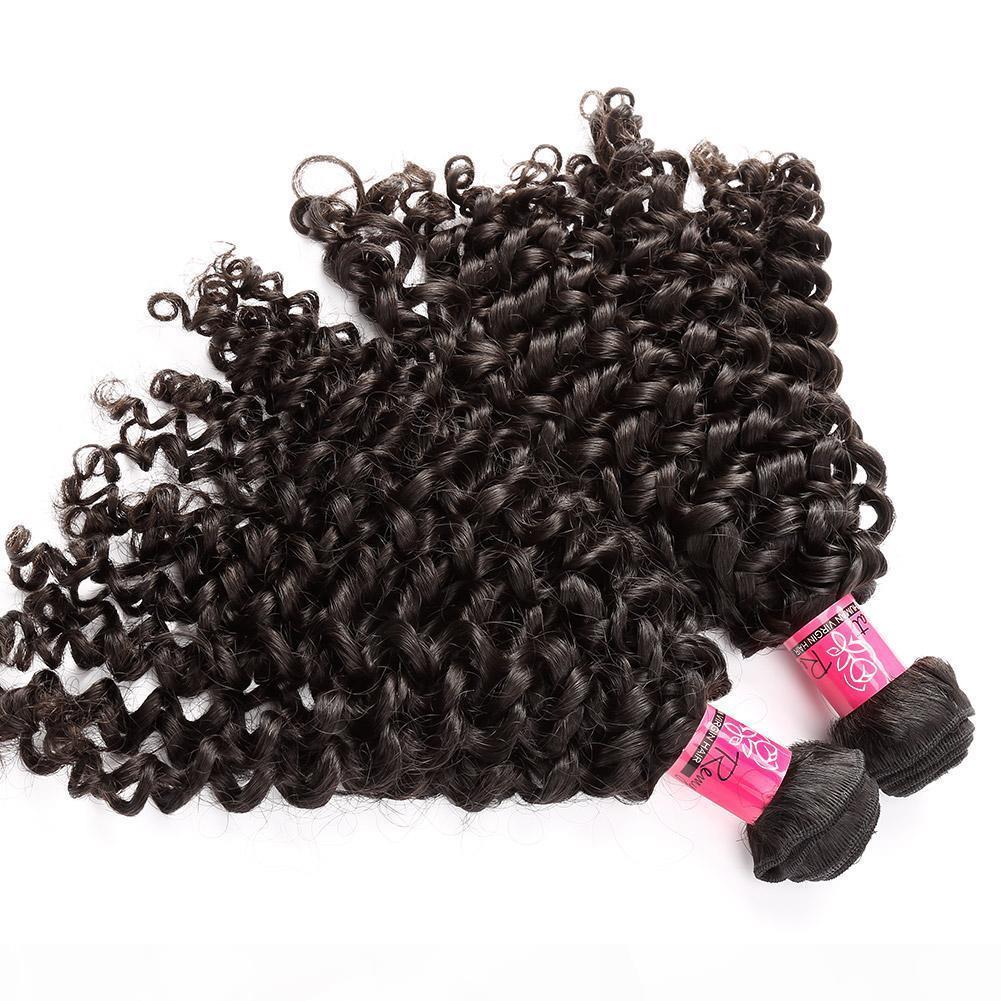 """7A 소매 1 개 100 % 말레이시아의 인간의 머리 짜 더블 씨실 확장 8 """"~ 30""""곱슬 웨이브 자연 색상 처리되지 않은 레미 처녀 머리"""